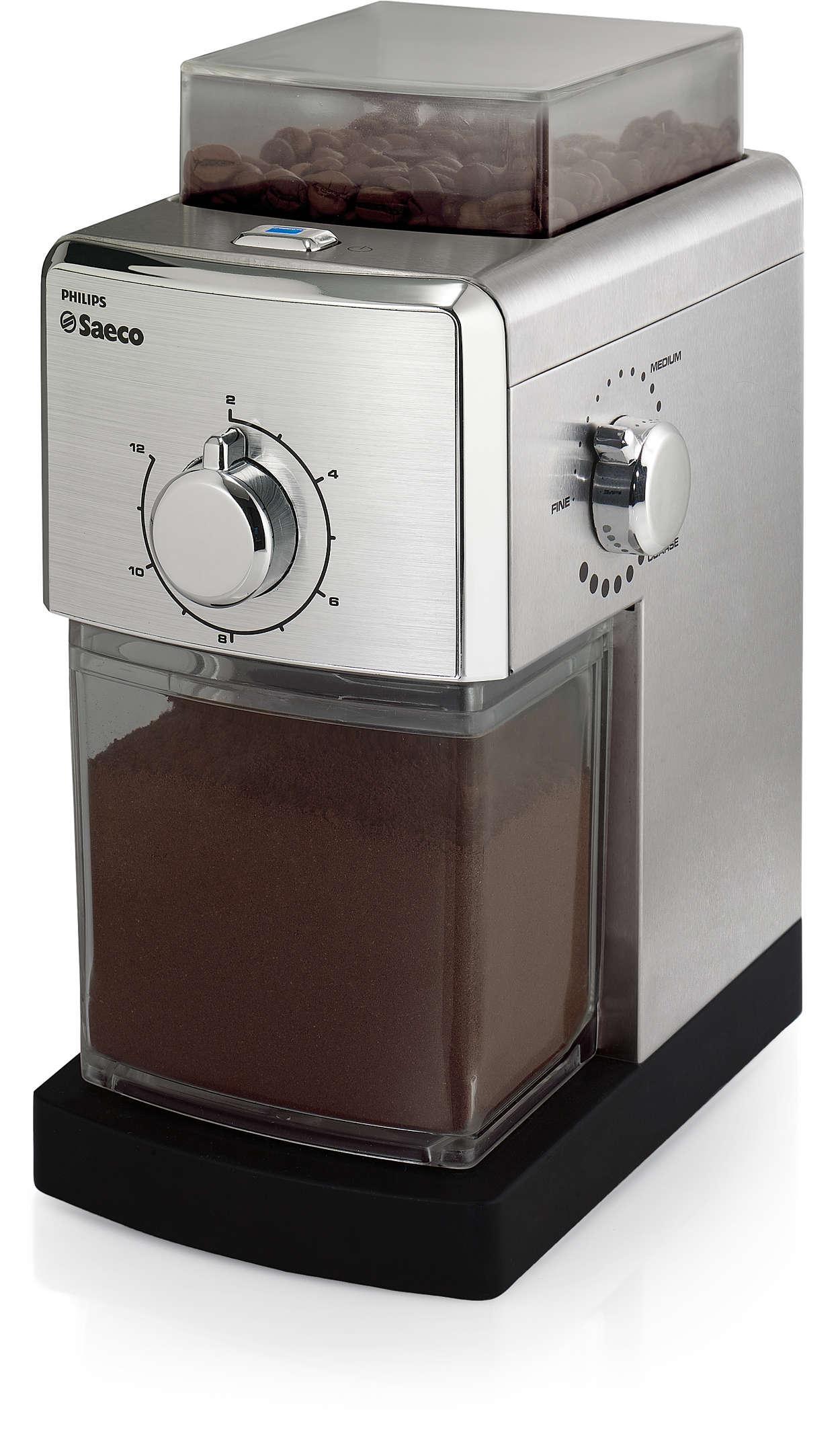 Muela sus granos de café preferidos