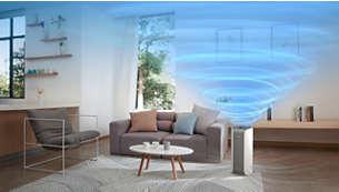 Nagy teljesítmény akár 60 m²-es helyiségekhez