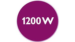1200 Watt enables constant high steam output