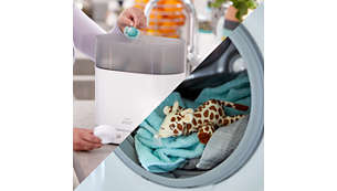 The pacifier can be cleaned and sterilized separately