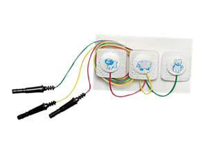 Électrode métallique pré-connectée, carrée Électrode