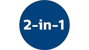 2-i-1-funktion för rengöring av både golv och möbler