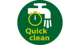 QuickClean і можна мити в посудомийній машині для всіх знімних частин