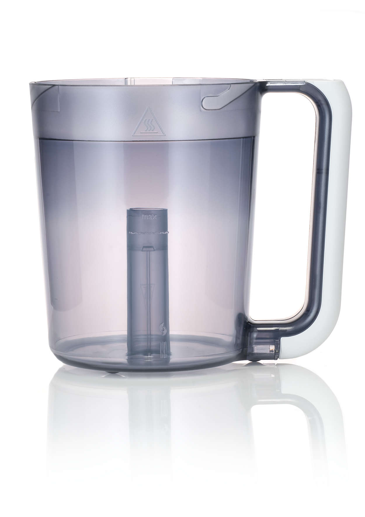 Part of the combined steamer and blender