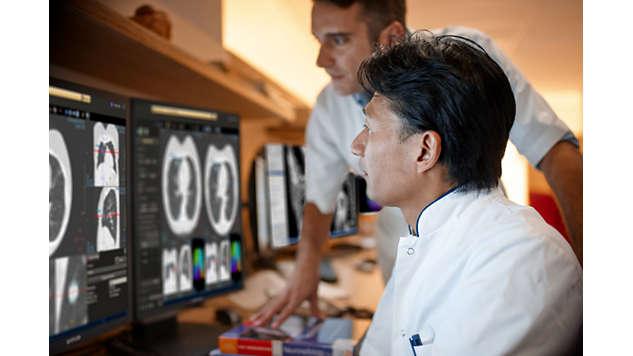 Gestión de pacientes con problemas pulmonares con solo una lectura
